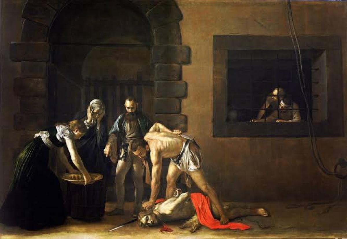 Quadro de Caravagio: a decaptação de João Batista
