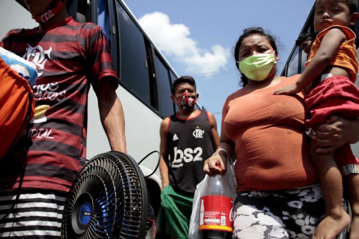 Imigrantes venezuelanos chegam ao Brasil pela fronteira com Roraima  Foto: Prefeitura de Manaus