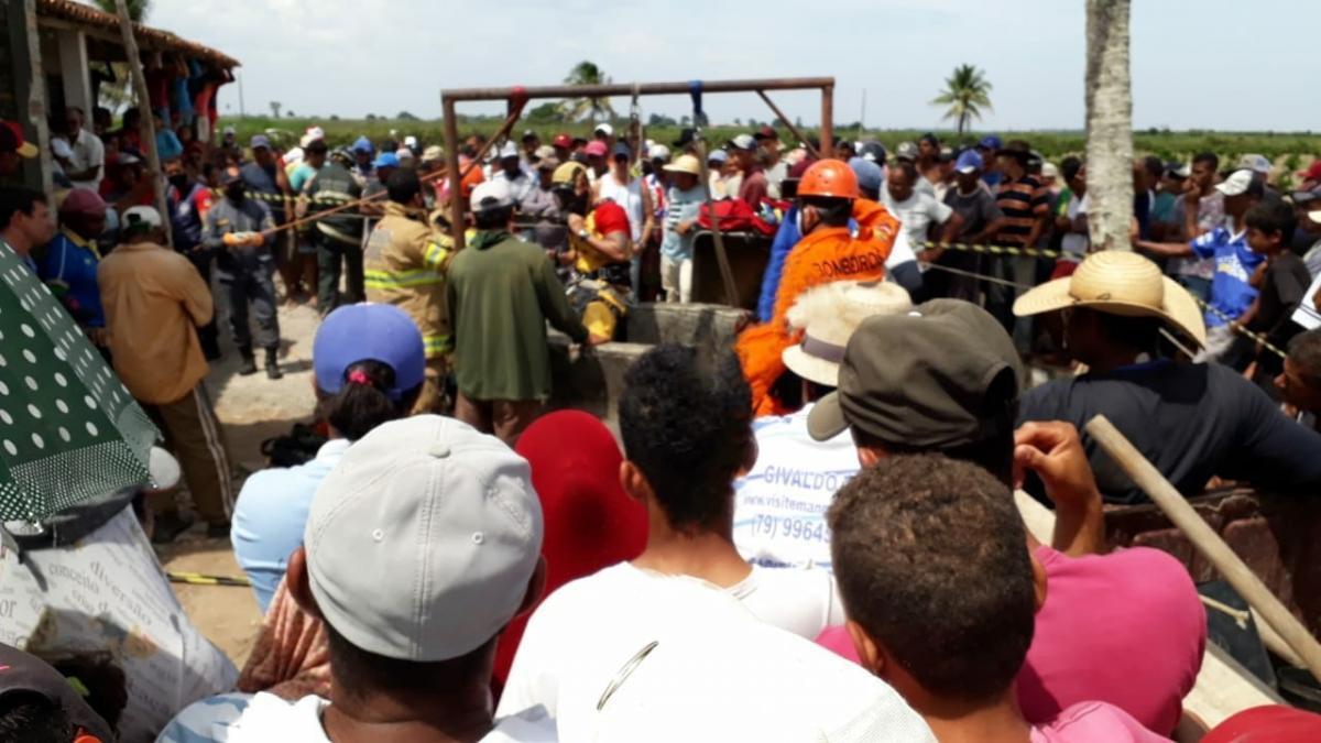 Dois homens morrem em cisterna na zona rural de Itabaianinha. Foto: cedida ao F5News