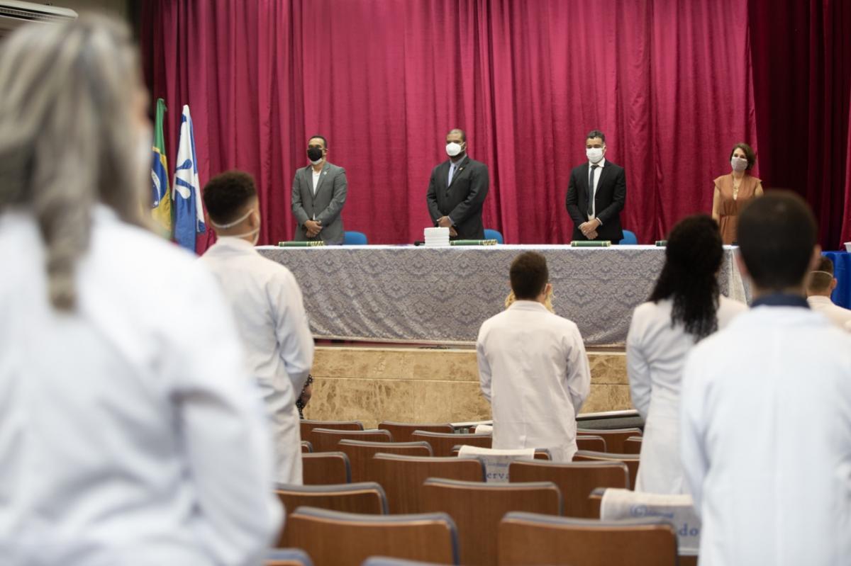 Cerimônia de formatura foi realizada no campus de São Cristóvão. Foto:  Adilson Andrade/ UFS