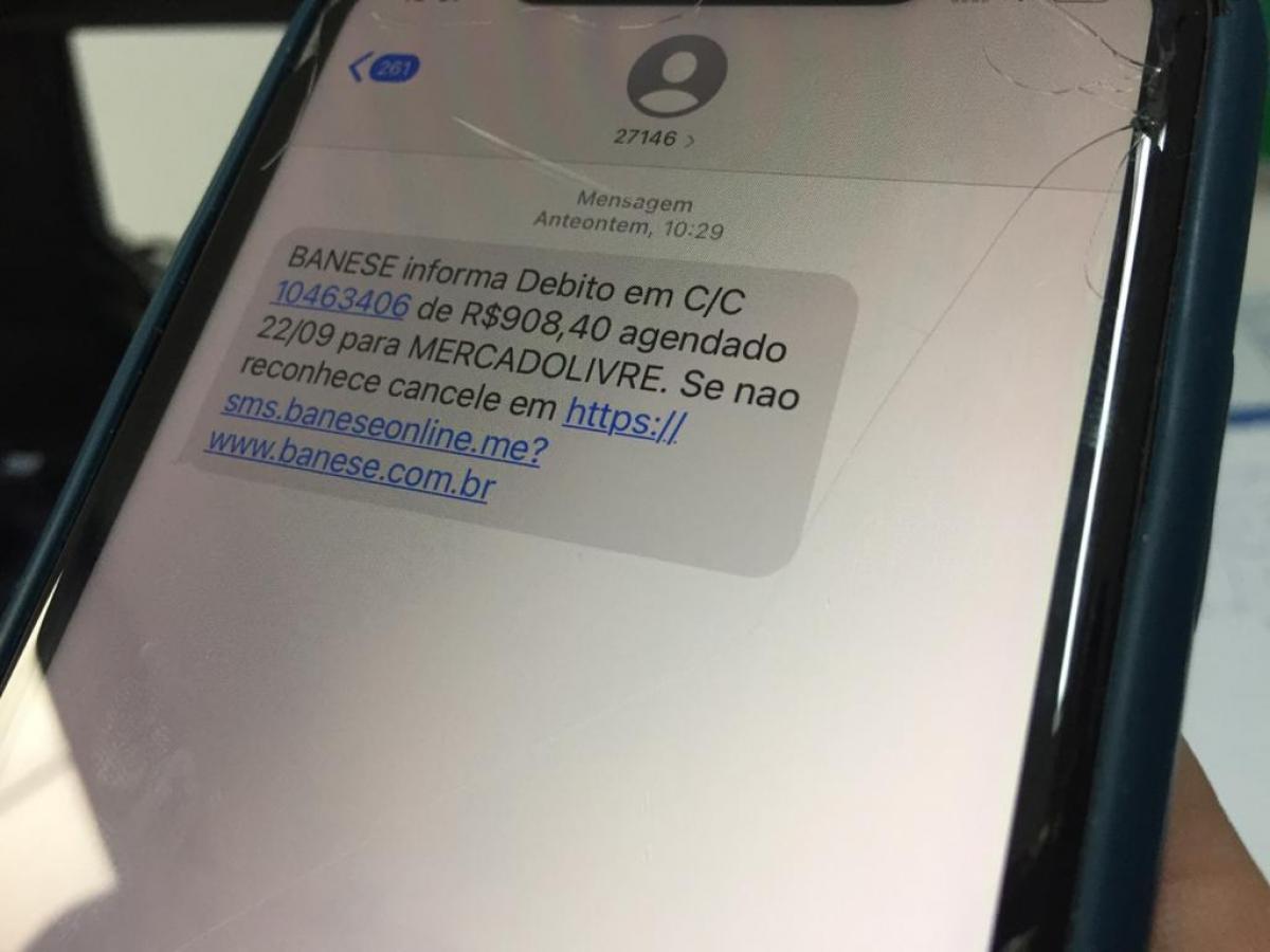 Correntistas do Banese recebem mensagens de tentativa de golpe via SMS
