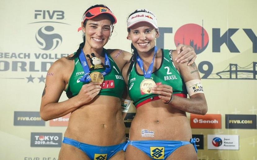 Duda e Ágatha são campeãs de etapa de mundial em Tóquio