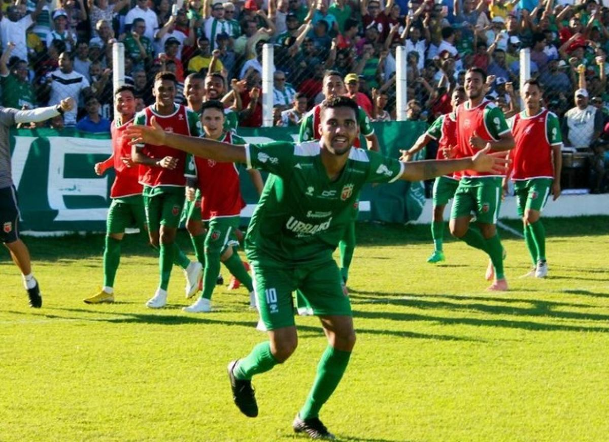 Comemoração de um gol durante temporada de 2019. Foto: Ricardo Rocha/ Lagarto