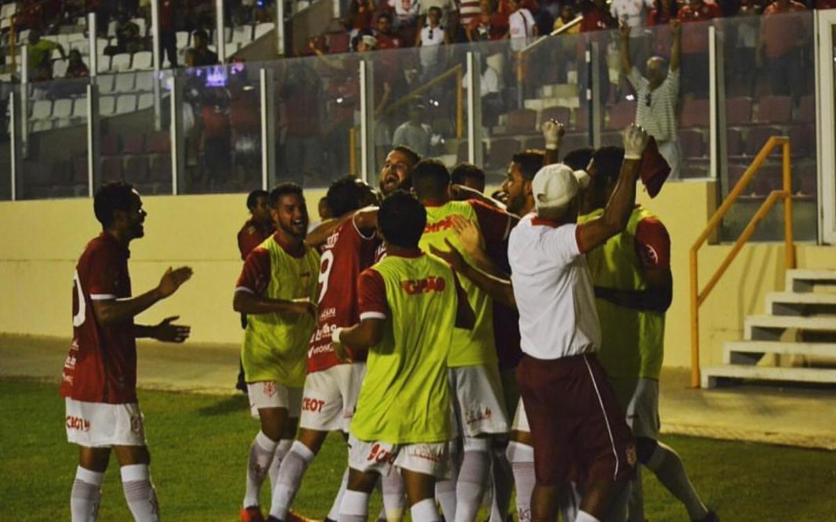 Comemoração de um gol na temporada de 2019. Foto: José Maria Marques/ Sergipe