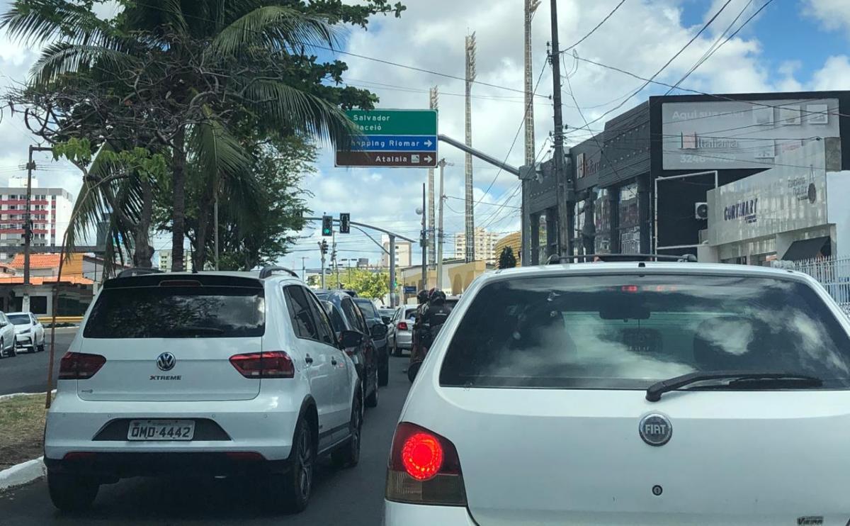 Aracaju tem atualmente 313.537 carros individuais, segundo Setransp. Foto: Saullo Hipolito/ F5 News