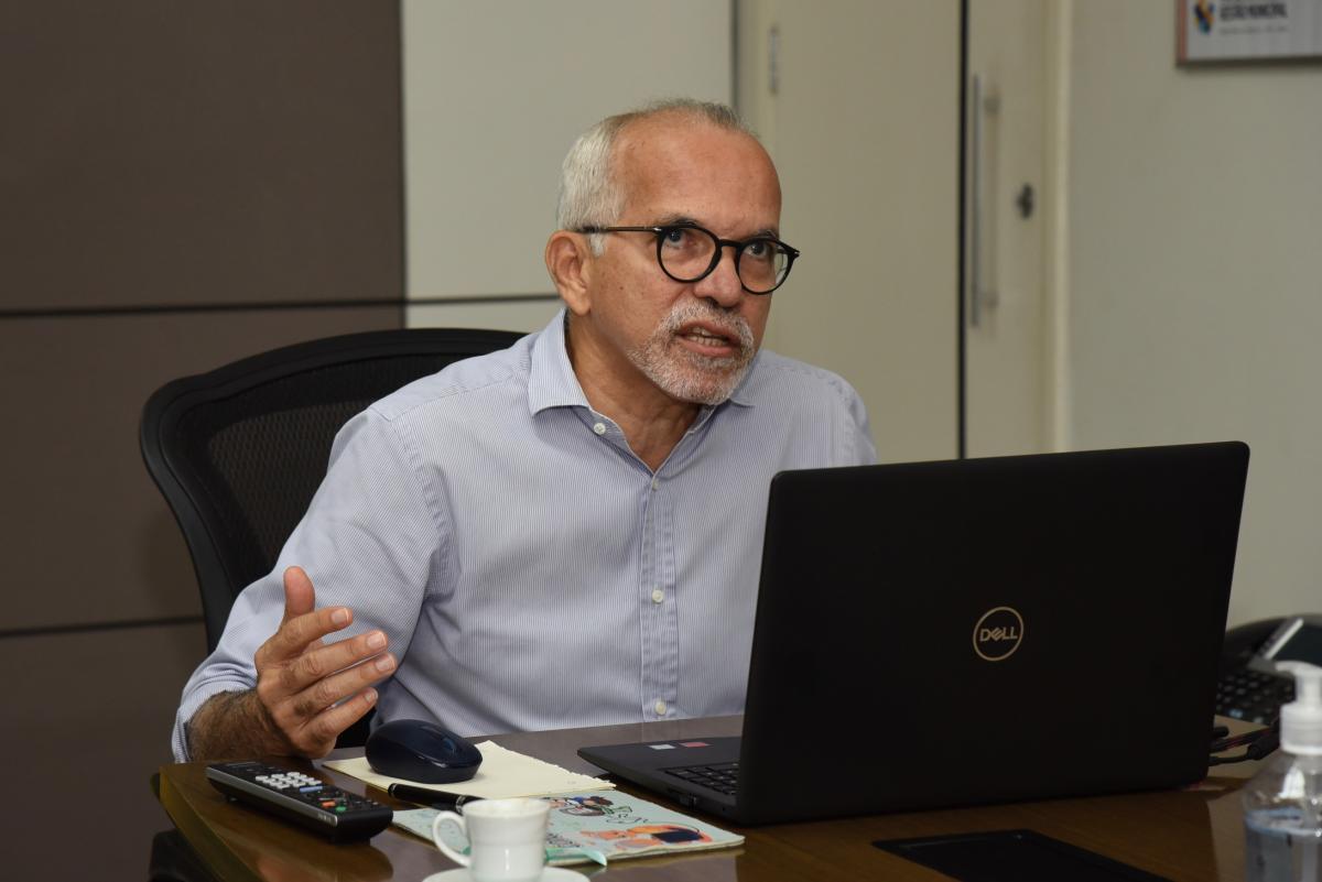 Edvaldo tentará reeleição à PMA. Foto: Ana Lícia Menezes/PMA