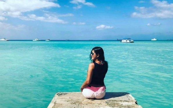 O mar das Ilhas Cayman tem uma cor indescritível