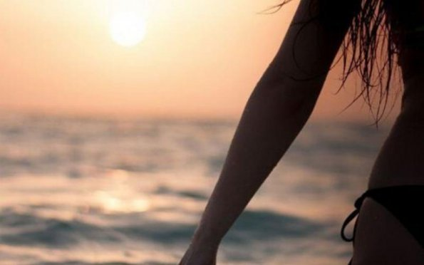 A menina da praia