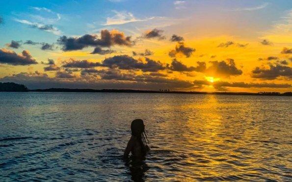 Os points no Rio Vaza Barris são famosos pelas lindas paisagens de pôr do sol