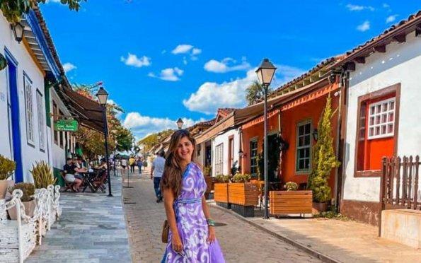 Pirenópolis com suas casas coloridas encanta os turistas