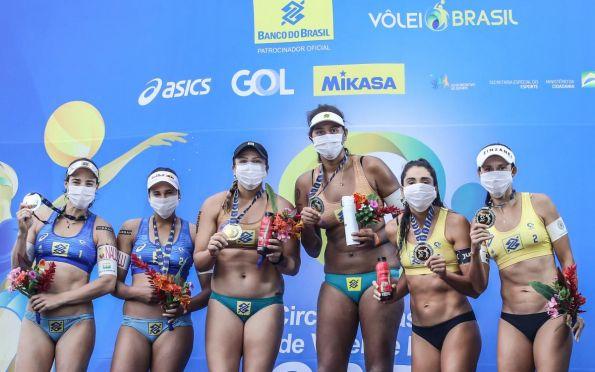Duda e Agatha conquistam a prata no Circuito Brasileiro de Vôlei de Praia