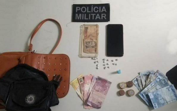 PM prende casal por suspeita de tráfico ilícito de drogas em Lagarto