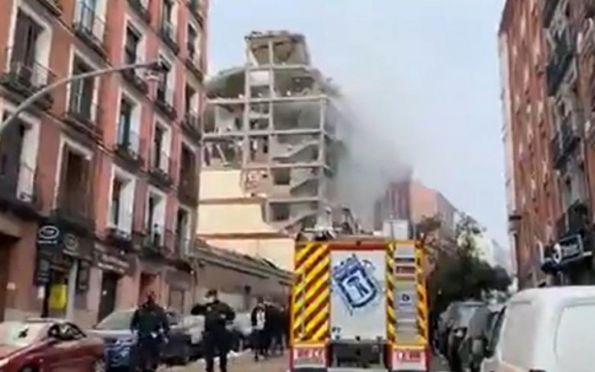 Explosão no centro de Madri derruba parte de prédio e deixa feridos