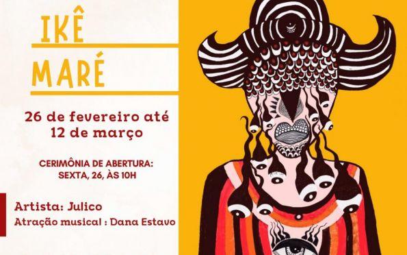 Corredor Cultural recebe exposição Ikê Maré, assinada por Julico