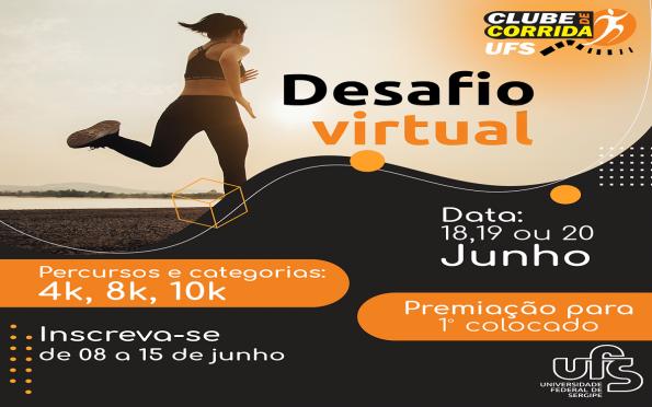 UFS organiza corrida virtual nos dias 18, 19 ou 20 de junho