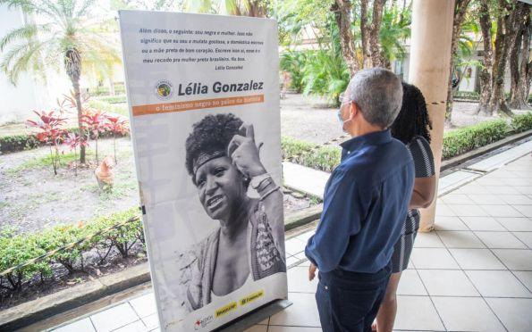 Exposição sobre Lélia Gonzalez está aberta na Secretaria de Inclusão