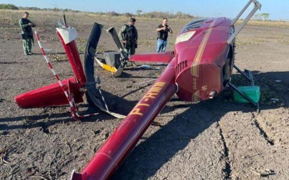 Helicóptero com 300 kg de cocaína cai em Mato Grosso