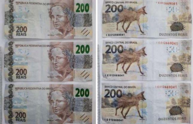 Laudo da Criminalística confirma o uso de notas falsas de R$ 200 em SE