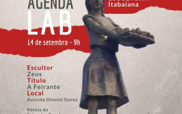 """Escultura """"A Feirante"""" homenageia identidade cultural e comercial itabaianense"""