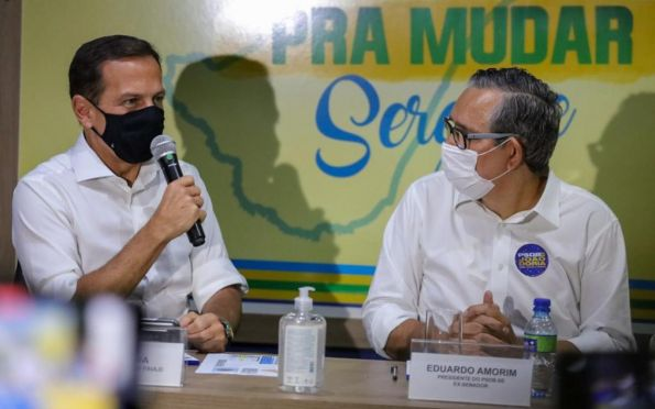 Em Aracaju, Doria defende a pré-candidatura de Eduardo Amorim ao Senado