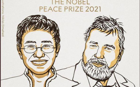 Jornalistas Maria Ressa e Dmitry Muratov recebem Nobel da Paz