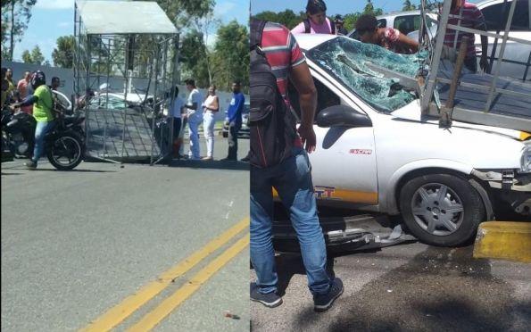 Acidente com reboque e táxi lotação deixa quatro feridos em Socorro (SE)