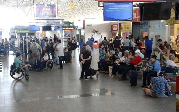 Mais de 90 mil passageiros devem passar pelo aeroporto. Foto: André Moreira/cedida ao F5