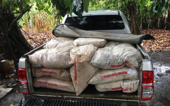 Polícia recupera mais de cinco toneladas de fertilizantes furtados