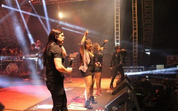 Calcinha Preta grava DVD que marcará os 25 anos de carreira, em Aracaju
