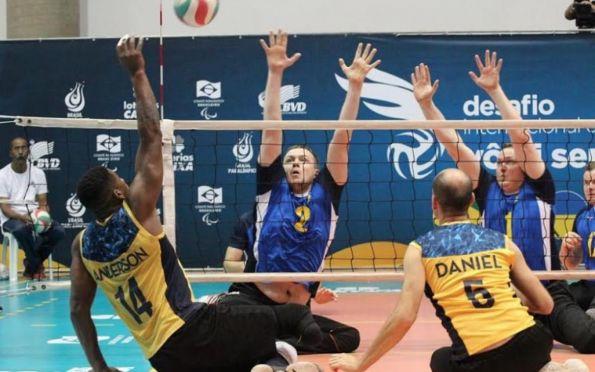 Vôlei Sentado: Brasil vence Ucrânia no Desafio Internacional