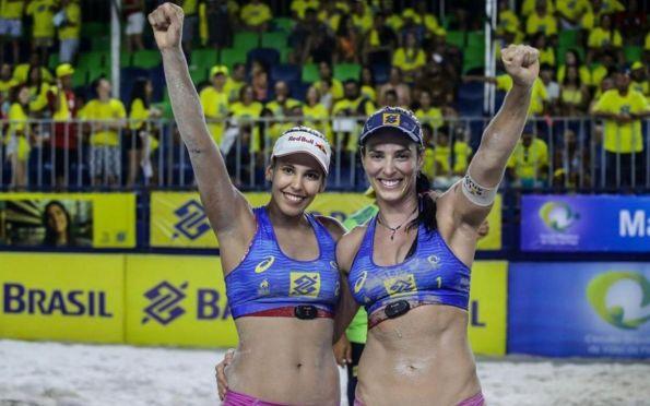 Duda e Ágatha são campeãs da etapa de Maceió do Open