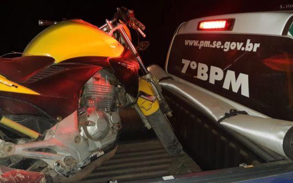 PM recupera três motos com suspeita de roubo em Lagarto