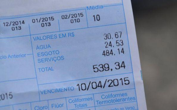 Conta de água ficará mais cara a partir de março
