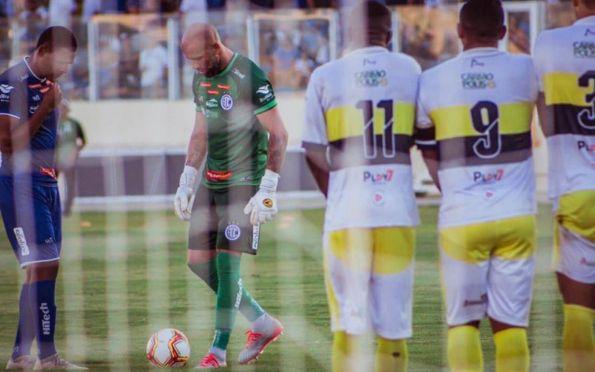 Goleiro Rafael, do Confiança, vê de forma positiva a volta do futebol