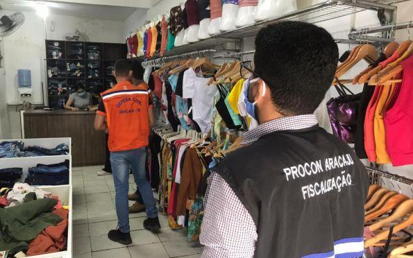 Prefeitura fiscaliza comércio nos bairros Bugio e Santos Dumont