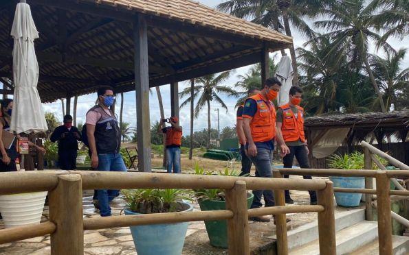 Prefeitura de Aracaju realiza fiscalização nas praias e orienta banhistas