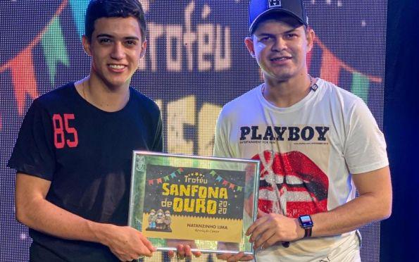 Natanzinho Lima é destaque em Sergipe e ganha prêmio de Cantor Revelação