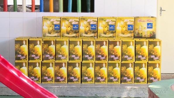Grupo Multserv doa cestas básicas para instituição do Santa Maria