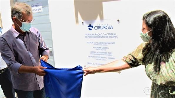 Hospital Cirurgia reinaugura Central de Processamento de Roupas