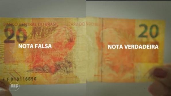 Saiba como reconhecer uma nota de dinheiro falsa