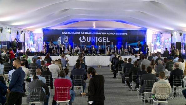 Veja como foi a inauguração da fábrica da Unigel em Laranjeiras