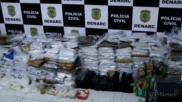 Denarc apreende 700kg de drogas na zona de expansão de Aracaju
